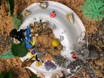 Jungle 2 for Sand Tray Therapy Class