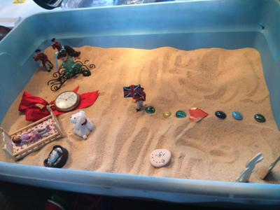 Sand Tray Therapy Nature Tray 4