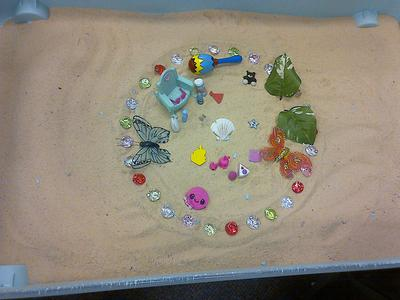 Student 4: Sand Tray Therapy Class Mandala Photo 2