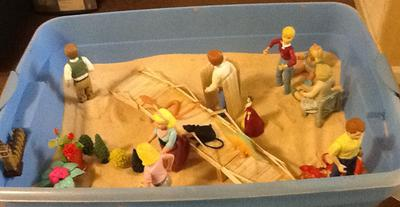 Childhood Sand Tray Therapy Tray Activity