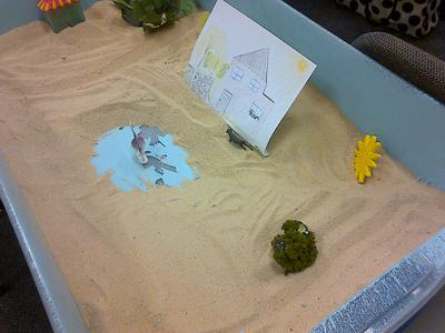 #4 House, Tree, Person Sand Tray Therapy Activity