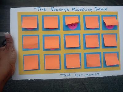 Play therapy game: Matching Memory Game Activity to use in Play Therapy