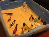 Day 1 of extended sand tray therapy tray.