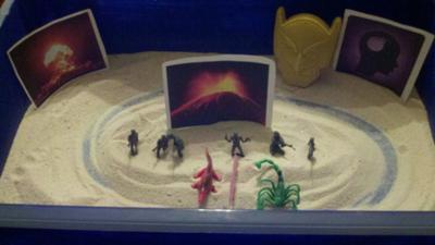 Anger Management Sand Tray in Sand Tray Therapy