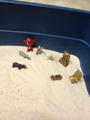 Day 1 of 7-Extended Sandtray Therapy for Student 4