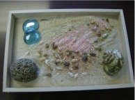 sand tray therapy fairy garden