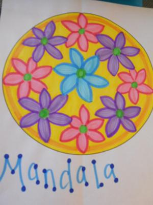 See a Beautiful Example of the Play Therapy Flower Mandala