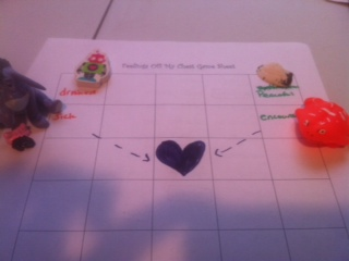 Play therapy game to use in Play Therapy: Feelings Chess Game