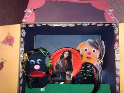 Play Therapy Puppet theater: Example 2: A Walk in the Park