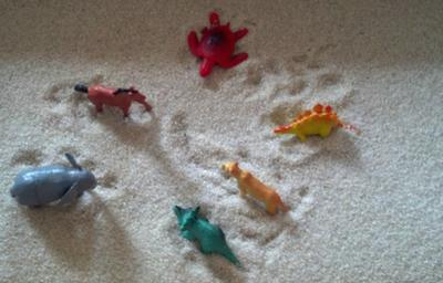 A school counselors first time sand tray in sand tray therapy training