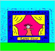 play therapy puppet theater activity technique example 1