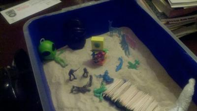Sand Tray Therapy Experience #1 , Student # 7