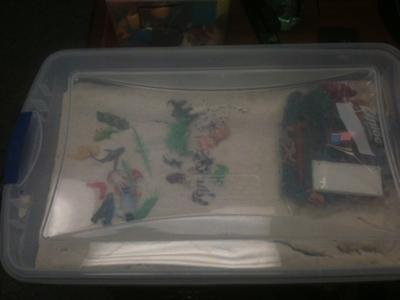 Sand Tray Therapy for Play Therapy / idea for social workers and school counselors