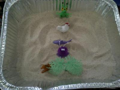 Sand Tray Therapy Technique Example: Tray #1