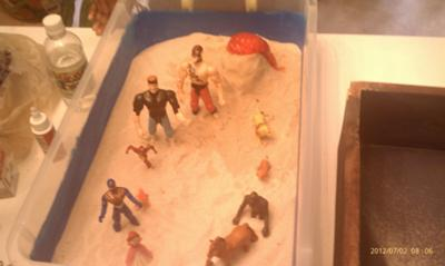 Sand Tray Therapy Anger Management --Controlling the Volcano Inside