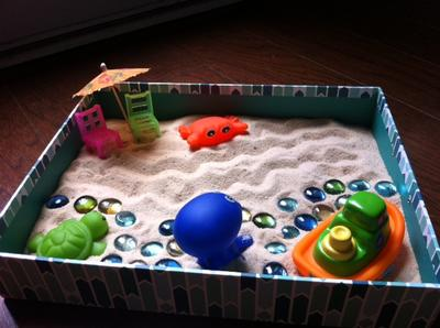 Sand Tray Therapy Class: Zen Garden Student #7, #2