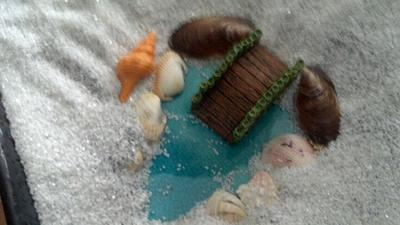 End of week closeup for Sand Tray Therapy