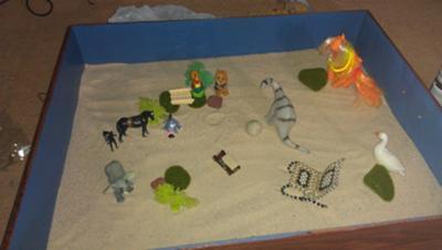 Homemade Sandtray Therapy Bridge, #1