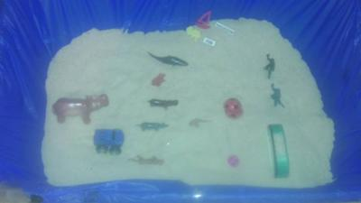 Sandtray Therapy Class-Anger  Management Sandtray-Student #11 Picture 1