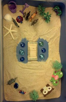 Sand Tray Therapy Bridge Sand Tray