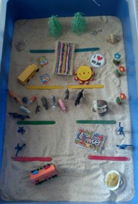 Maslow's Hierarchy of Needs Sandtray Therapy Example #1