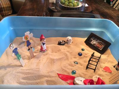 Sand Tray Therapy Nature Tray 1