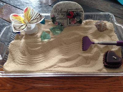 Sand Tray Therapy Zen Garden, Student #2