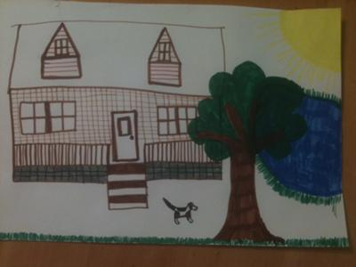House, Water, Tree, Sun, Animal, Play Therapy Technique