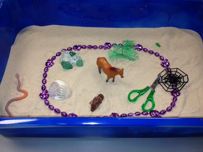 Transitional Objects for Sand Tray Therapy Class Student 2