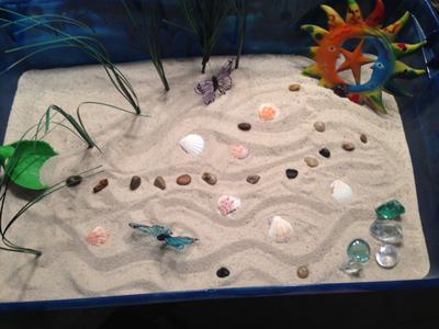 Zen Sand Tray Therapy Garden Example