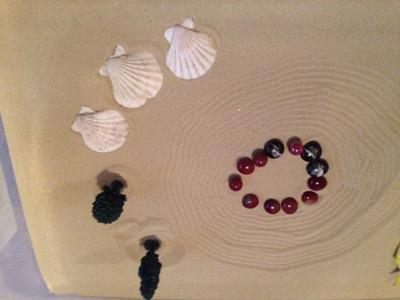 Zen Garden Sand Tray Therapy Garden Tray Example #2